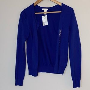 NWT Blue H&M cardigan sweater
